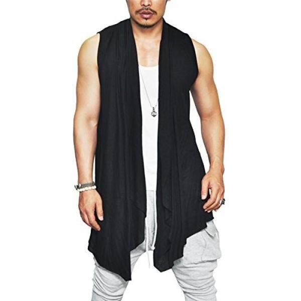 Chinese style summer printed short sleeved t shirt Merah 2 . Source · Jinidu Jinidu Pria Ruffle Kerah Cutoff Shirring Tanpa Lengan Panjang Cardigan Rompi ...