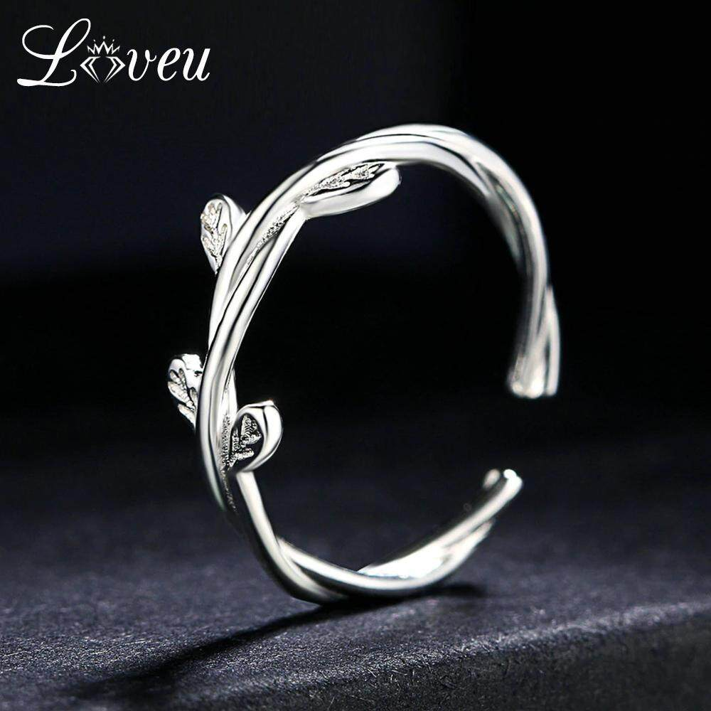 Philippines Loveu Vines Flowers Design 100 925 Sterling Silver Rings S925 Adjule Ring Jewelry For Women