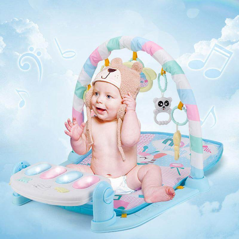 Baby Play Mat Fitness Bodybuilding Frame Pedal Piano Music Carpet Blanket Kick Play Lay Sit Toy - intl