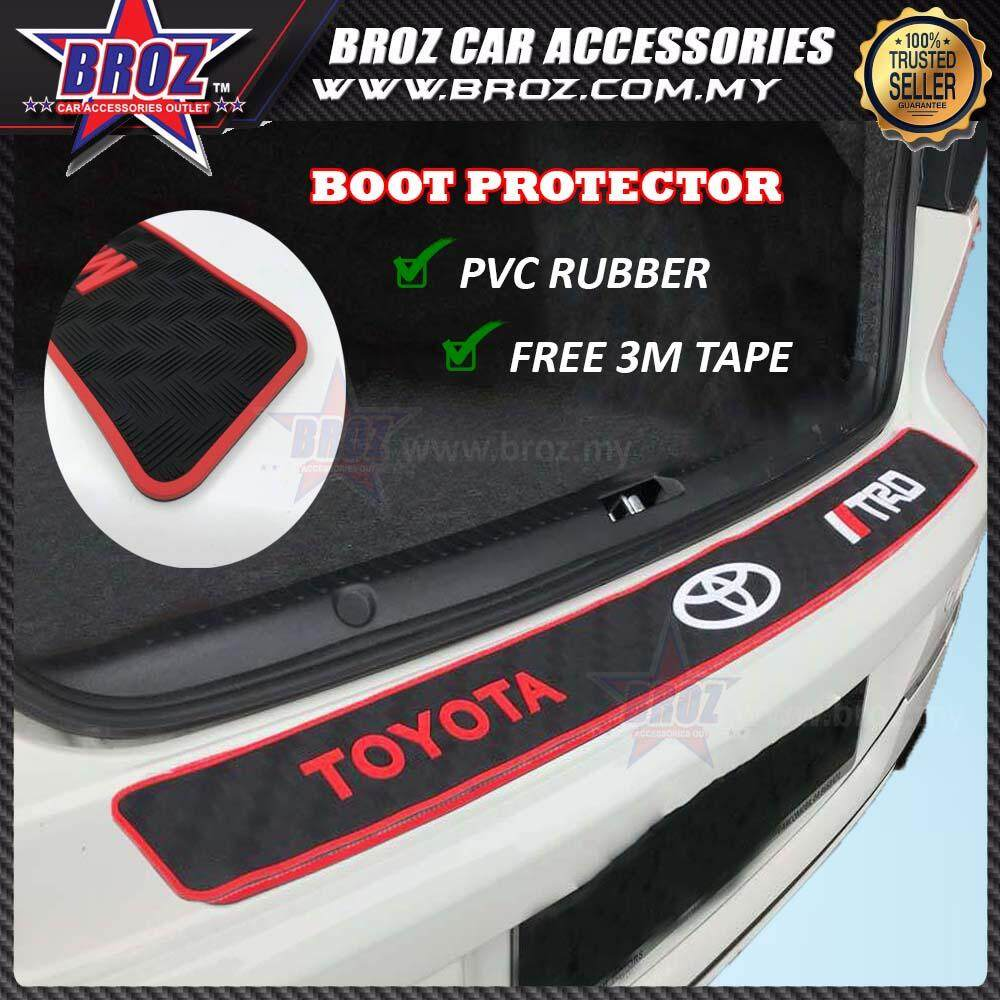 Universal Toyota Rear Bumper Protector Rubber Strip Shock Absorption