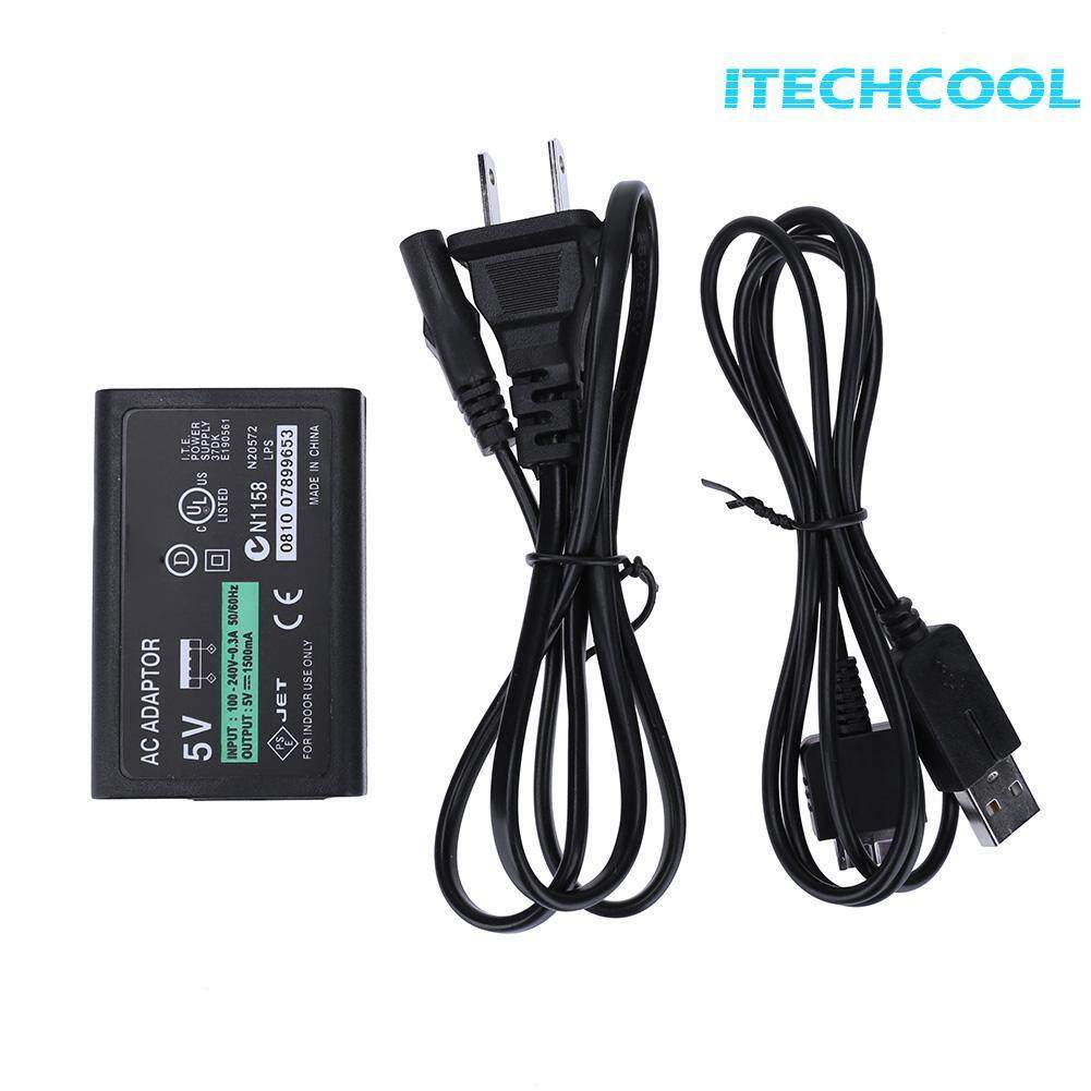 High Quality AC Power Adapter Charger for SONY PSV1000 Game Console with Cable(Black)-US