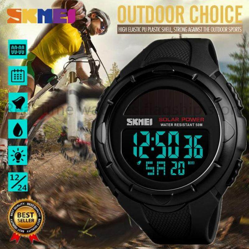 SKMEI Solar Outdoor Sports Diving Watch Mens Luminous 12/24 Hours Digital Watch Chrono 50M Waterproof Watch Relogio Masculino 1405 Malaysia