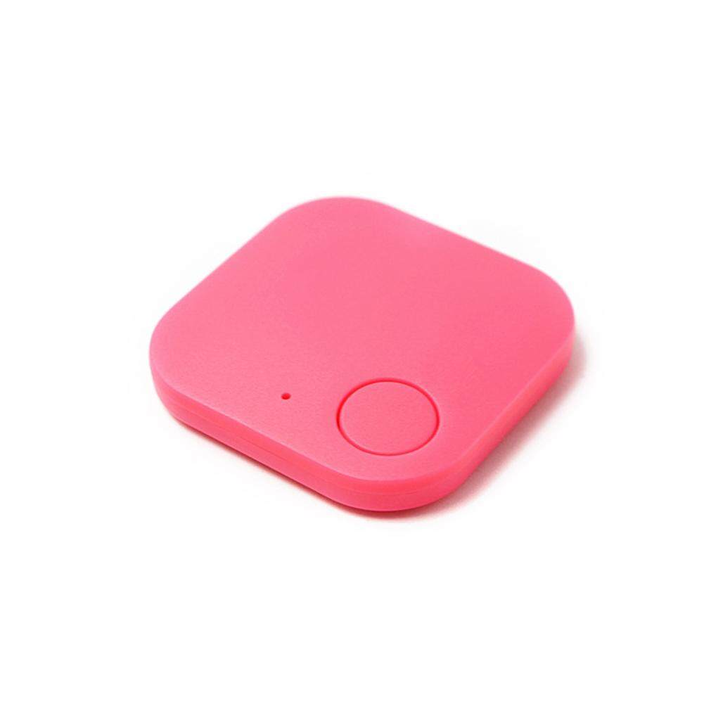 LB Square Bluetooth Car Motor GPS Tracker Alarm Locator Real-time Finder Device for Kids Pets Wallet Keys Pink