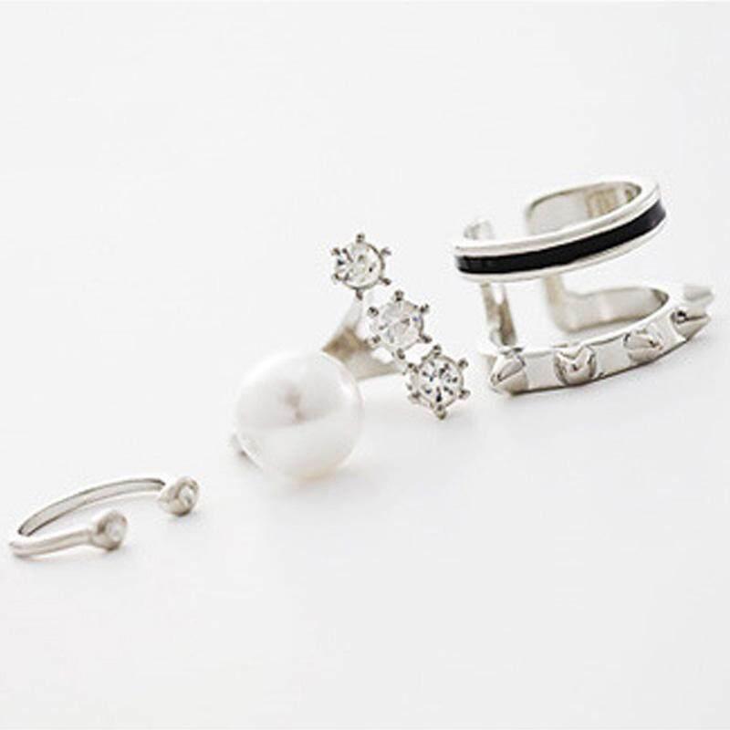 3 Pcs/set Cincin Besar Set Simulasi Cincin Perhiasan Mutiara Untuk Aksesoris Wanita Wanita Bagues Pour Femme-Intl By Rytain.