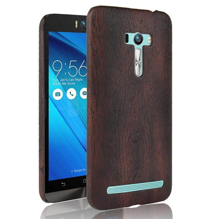 Wood color Soft Casing For Asus ZenFone Selfie ZD551KL Case Leather Cover Casing .