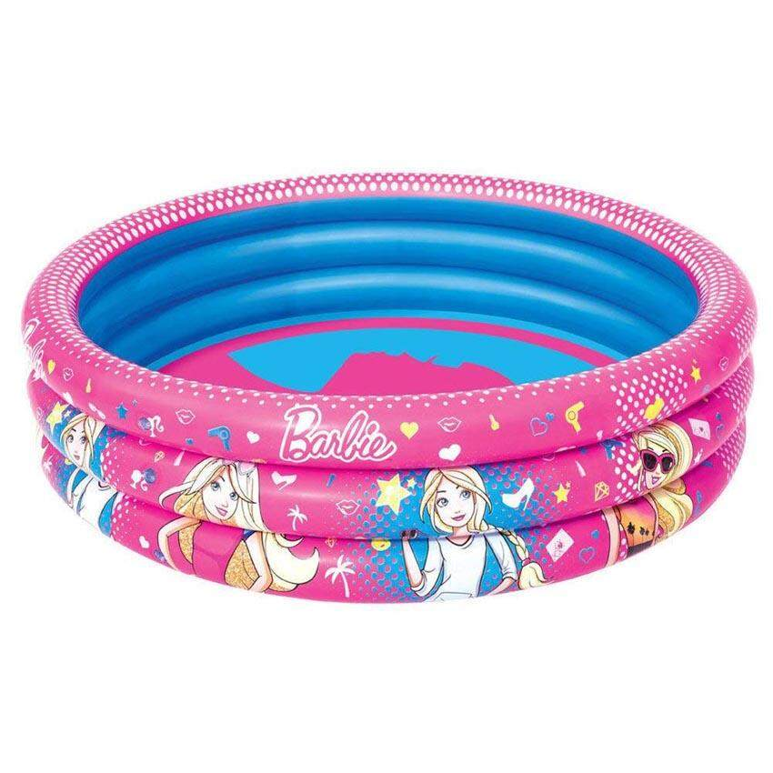 Bestway 93205 3 Ring Ball Pit Play Pool Barbie Pink 1.22m x 30cm Safety Valves Kids New Pink