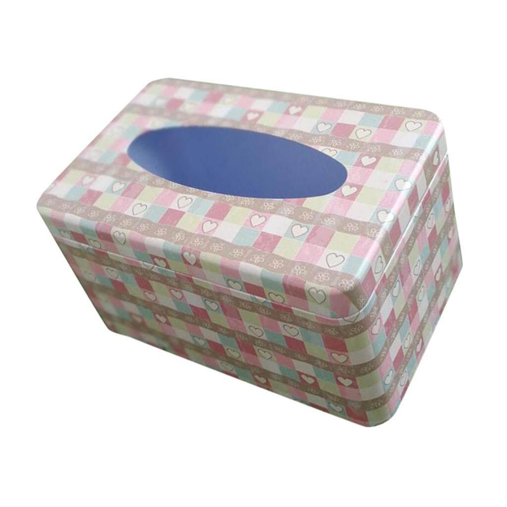 การส่งเสริม BolehDeals Napkin Paper Holder Removable Tissue Box Covers Tinplate Dinning Decor Tableware hot deal - มีเพียง ฿150.00