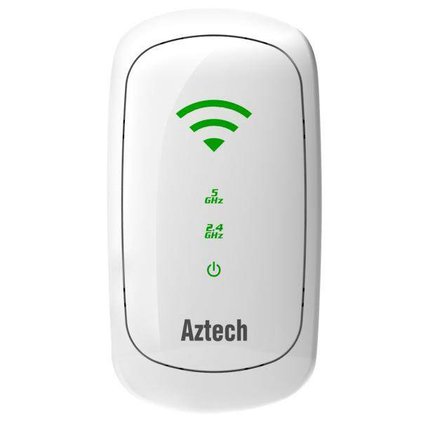 Aztech WL580E Dual Band 300Mbps Wireless N WiFi Range Extender Repeater (UK Wall Plug, Smart MIMO)