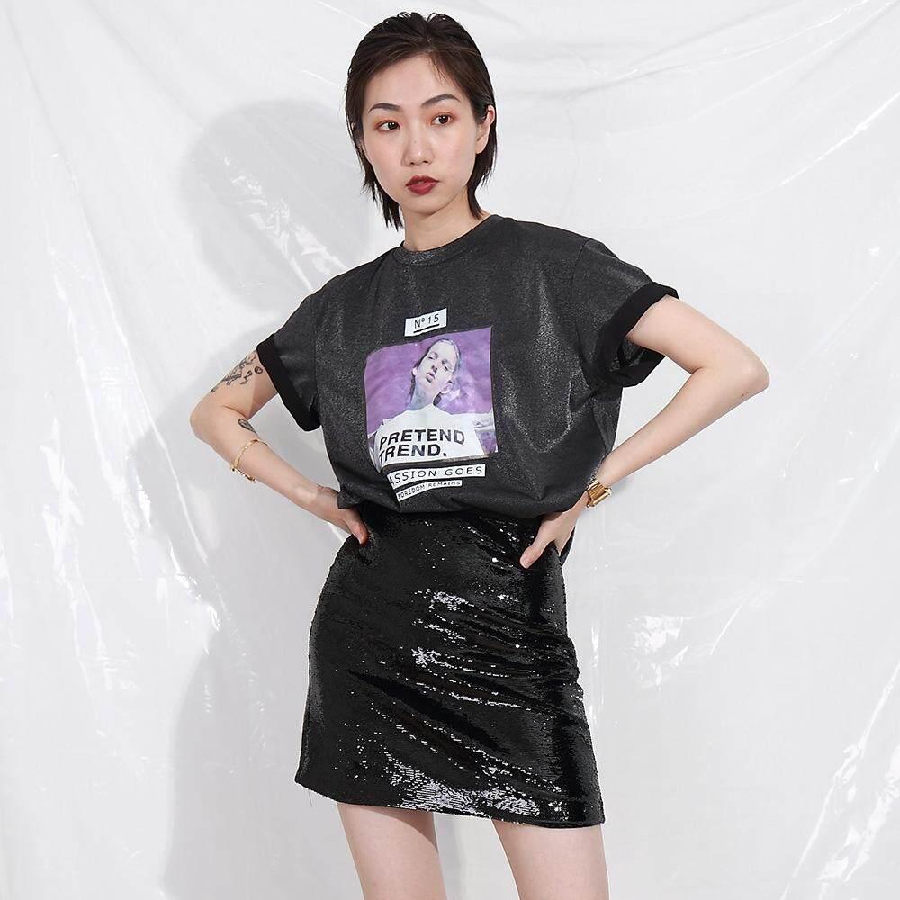 d5873577d7ed Women s T Shirt Summer New Bright Silk Head Print Relaxed Leisure Short  Sleeved T Shirt Female