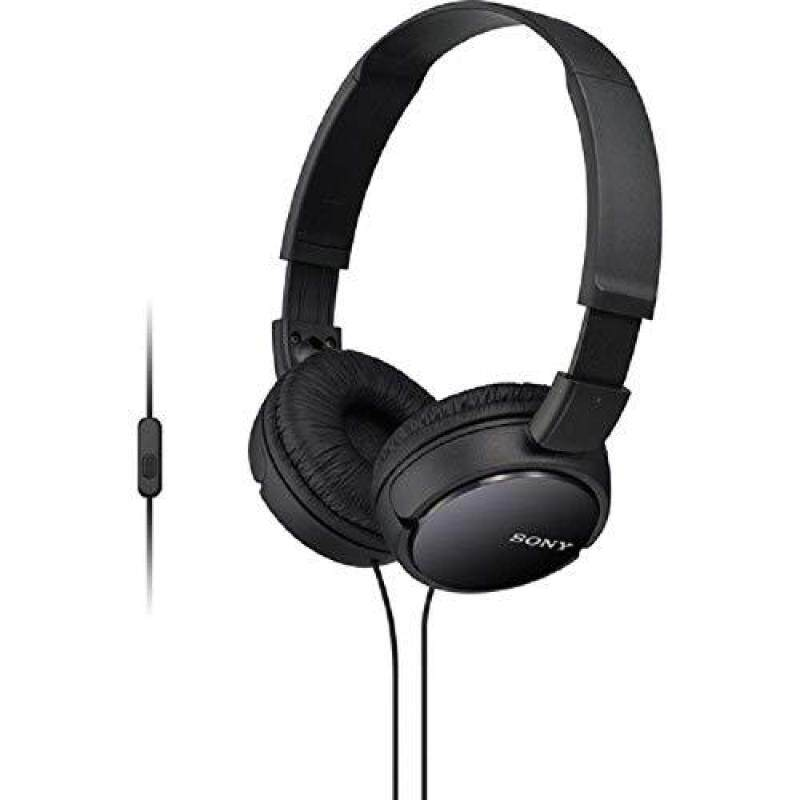 Sony MDR-ZX110AP Extra Bass Smartphone On-Ear Headphones Headset with Mic (Black) Singapore