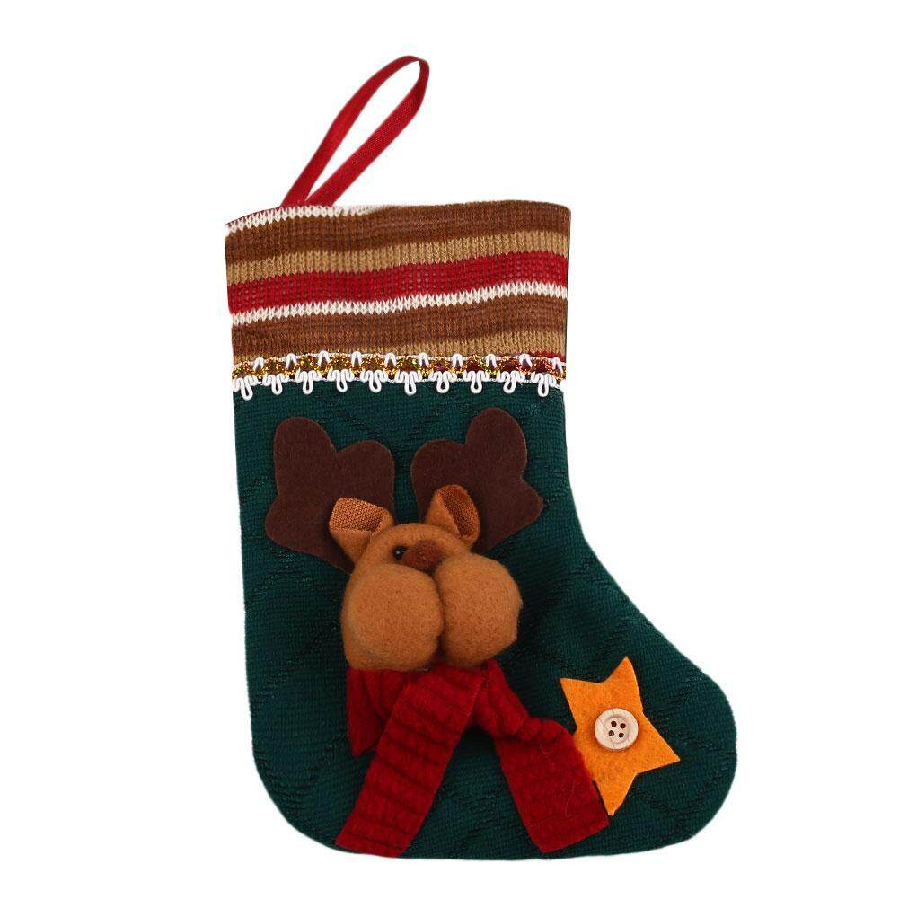 Clearance sale Snowman Stocking Fabric Christmas Xmas Boots Sock 3 Styles Gift Present For Kids - intl