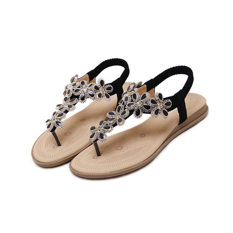 81423d026ae BELLOO Women Summer Low Flat Heel Flip Flop Sandals Clip on Post Thong Boho  Shoes with