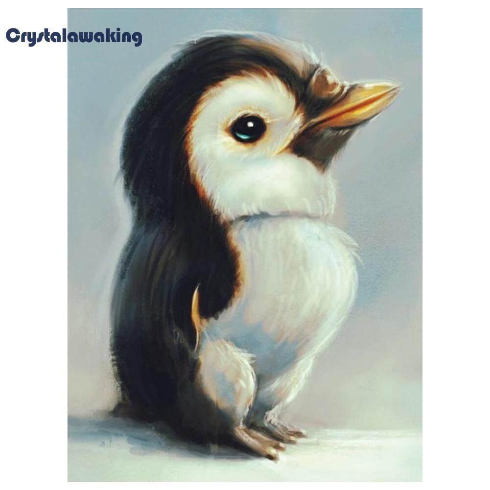 Penguin 5D Lukisan Berlian Sulaman DIY Kerajinan Jahitan Menyilang Dekorasi Rumah