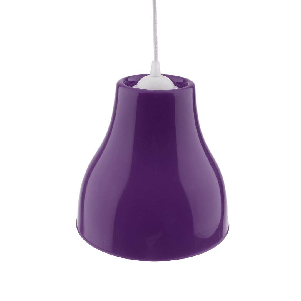 BolehDeals Hanging Light Pendant Lampshade Ceiling Light Cover Chandelier Shade Purple