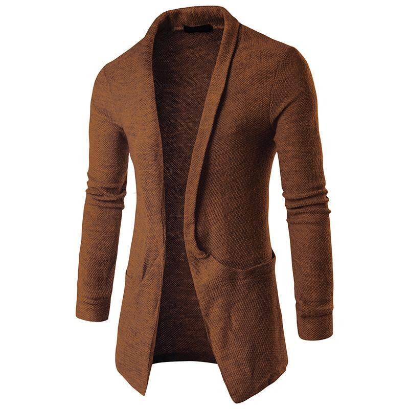 Men Knitted Cardigan Long Sleeve Casual Slim Fit Sweater Jacket Coat Tops  for Fall Winter from Gardenia 434f5765d