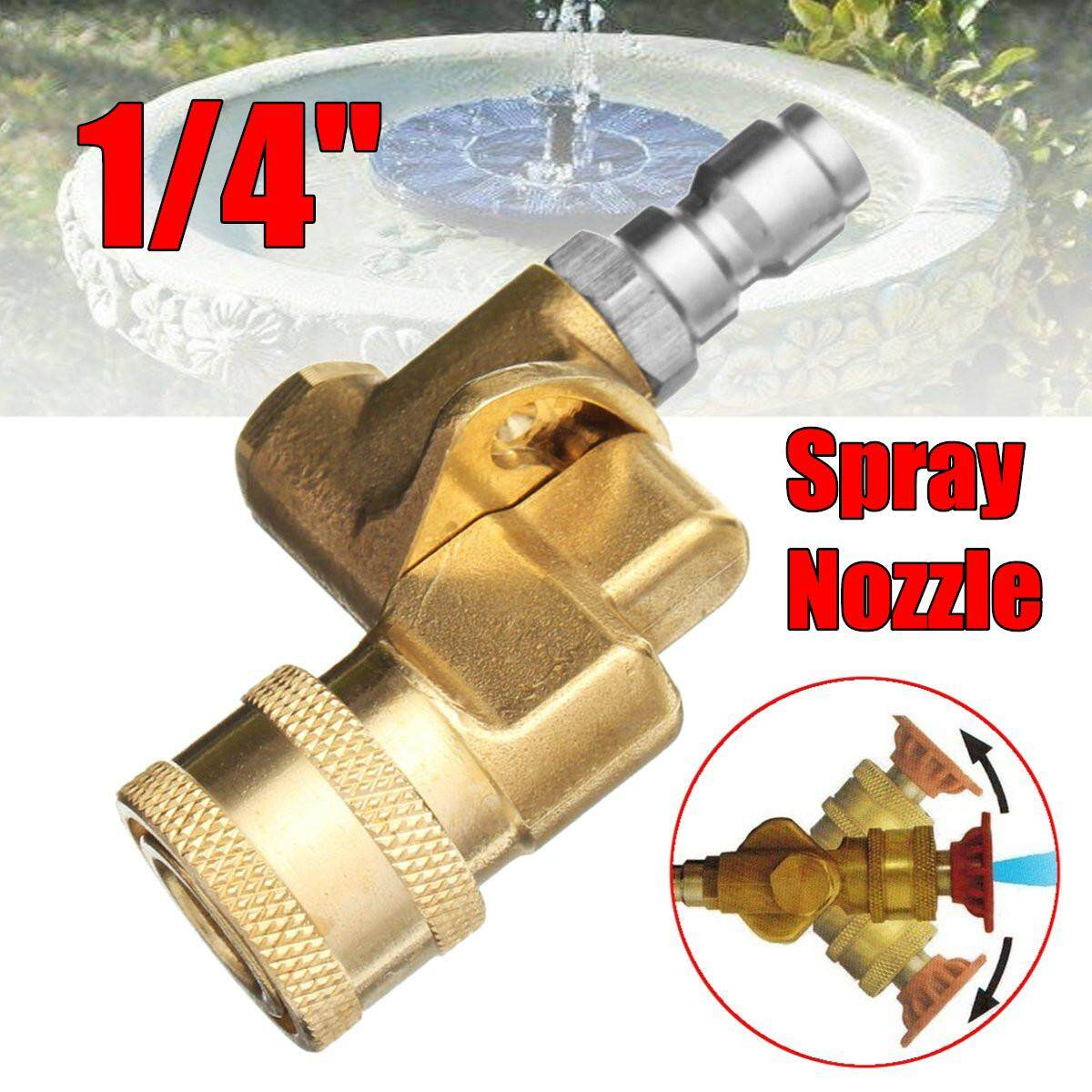 High Pressure Washer Spray Nozzle Variety Degrees 1/4 Adjustable Quick Connect