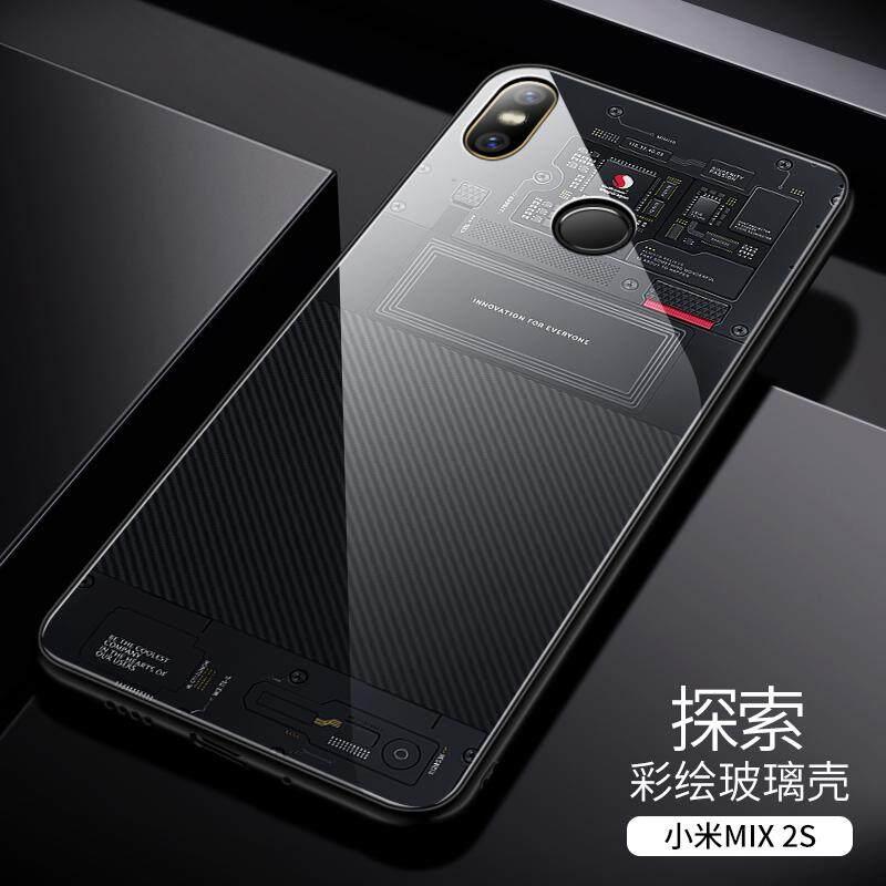 Aixuan Xiaomi 8 Casing HP play/mix2s/redmi redmi Meter 8 Edisi Remaja paly Kaca 8se Layar sidik jari versi 2 DISCOVERY versi Casing casing belakang Pria anti jatuh Chasing luar delapan