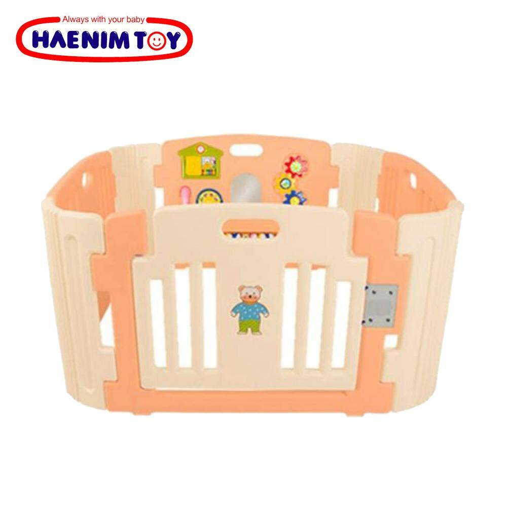 A Kiddy Educational New Arrival Haenim Pump Parts Body Connector Toy Korea Baby Play Yard 4 Panel With Activity Rose Gold