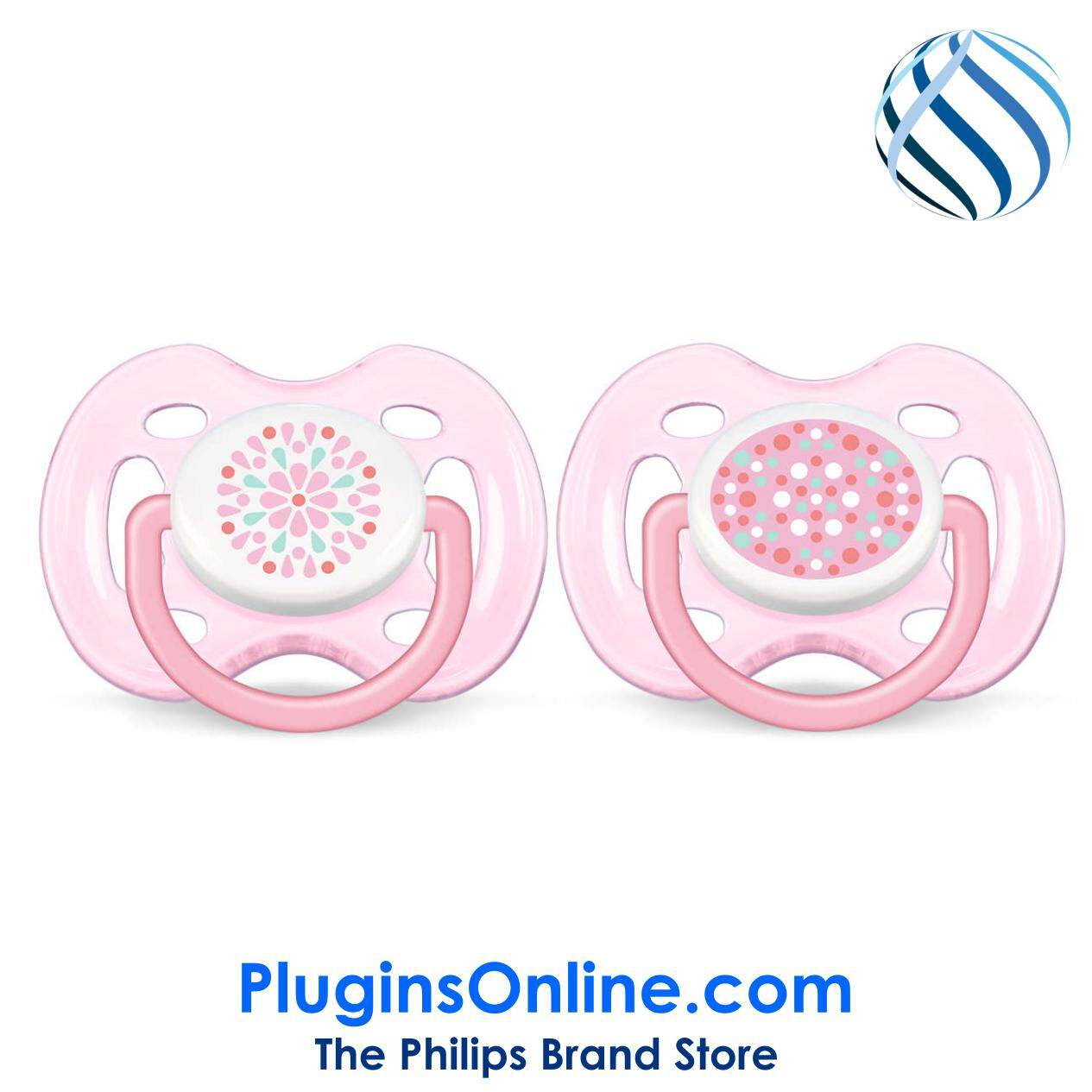 Philips Avent SCF180/26 Soother Contemporary Free Flow 0-6m (Pink)