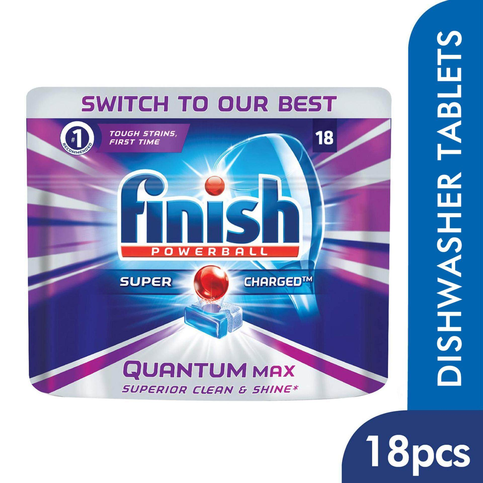 Finish Quantum Max Power Ball Dishwasher Tablets 18 Pieces