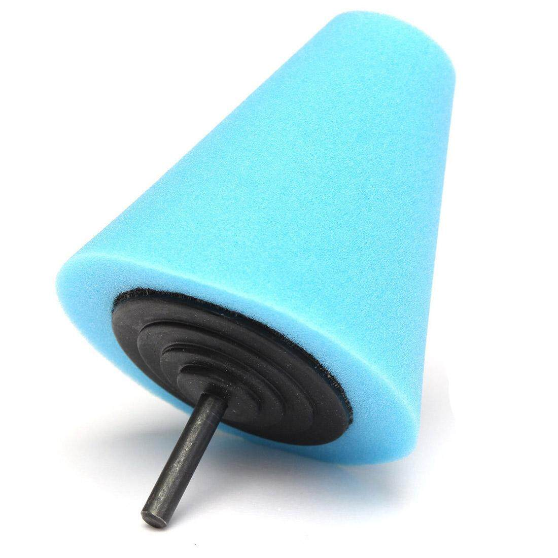 Sponge Cone Polishing Auto Buffer Pad Adapter Drill Blue By Yomichew.