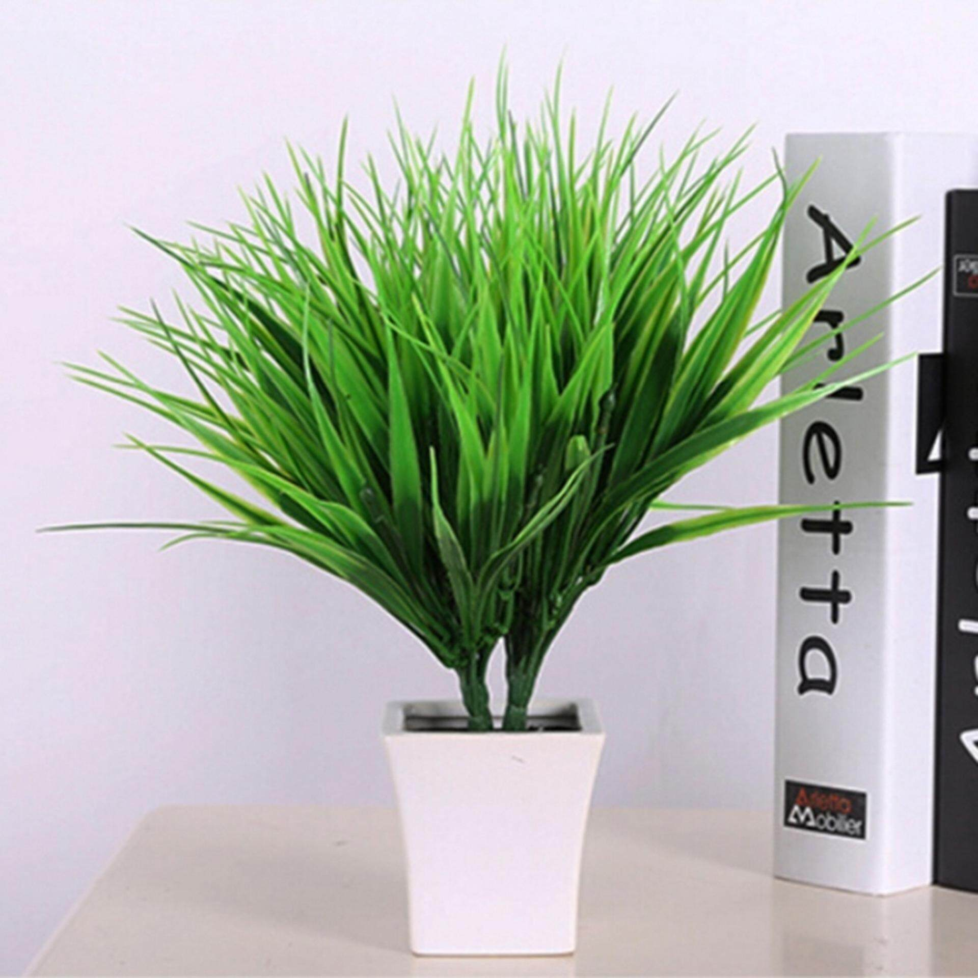 Rp 26.000. Plastik Palsu Buatan Hijau Tanaman Rumput Bunga ... 1b21354c7d