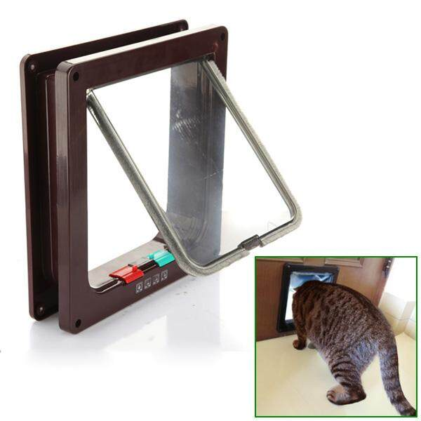 4 Way Safe Flap Suitable Locking Pet Door For Cat Small Dogl By Moonbeam.