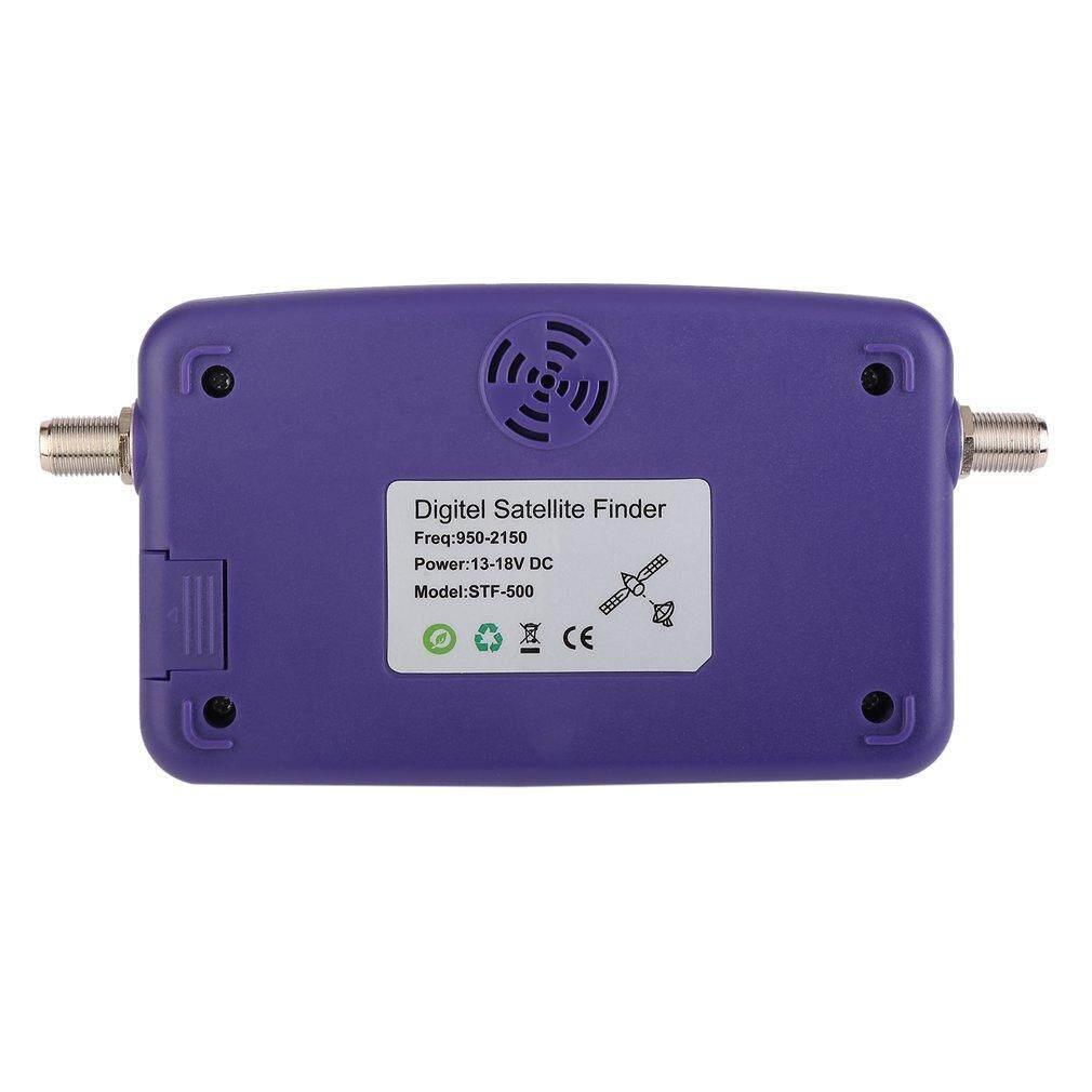 Digital menampilkan satelit Finder Meter Satfinder sinyal TV Receiver ungu - 3 .