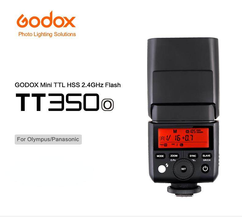 Godox TT350O 2.4GHz Universal Speedlight Flash for Olympus / Panasonic Mirrorless DSRL Camera ( For Olympus: E - M10II /E - M5II /E - M1/ E - PL8/ E - PL7/ E - PL6/ E - PL5/ E - P5/ E - P3/ PEN - F) (For Panasonic: DMC - GX85/ DMC - G7/ DMC - GF1/ DMC - )