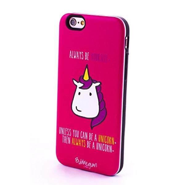 Smartphone Case S Permen Karet Pelindung untuk iPhone 7 Case iPhone 8 Case, hewan & Makanan Quotes Asli Resmi Keras Penutup Belakang (Menjadi Unicorn)-Intl