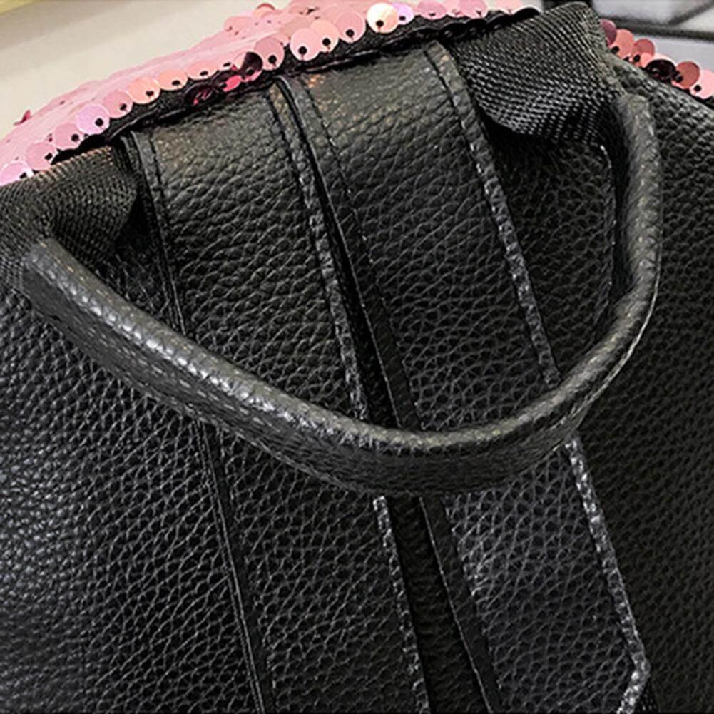 Features Wanita Kasual Luar Ruangan Ransel Pu Populer Payet Double Tas Import Backpack 335 Casual Trendy Bahu Harian Sekolah