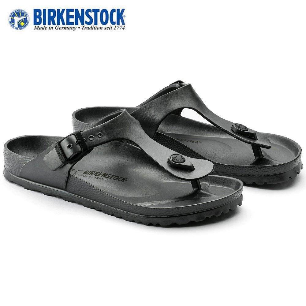 30ed59924700 Birkenstock Unisex Original Gizeh EVA 1001505 Dark Grey Sandals Birko-Flor®  Big Size (