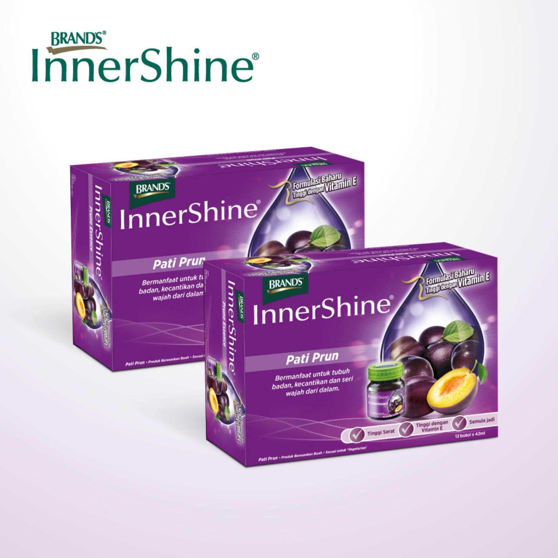 BRAND'S InnerShine Prune Essence  Twin Pack (6's) - 12 bottles x 42ml