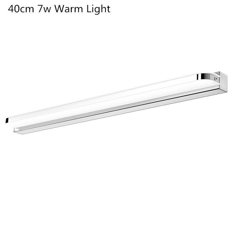 Mirror Light Led Waterproof Anti-fog Bathroom Mirror Lamp Wall Stainless Steel Lamp European Simple Modern Mirror Cabinet Lights Led Lights - intl