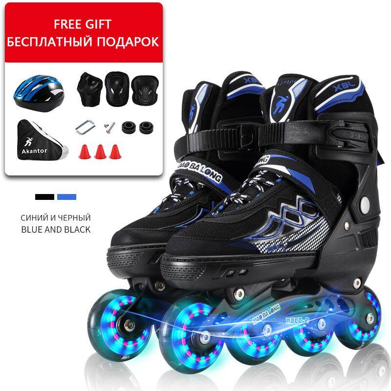 Unisex Adults Skating Shoes Professional Single-row Roller Skates Shoes  Adjustable Inline Skating Shoes Roller f3d55764bcdb0