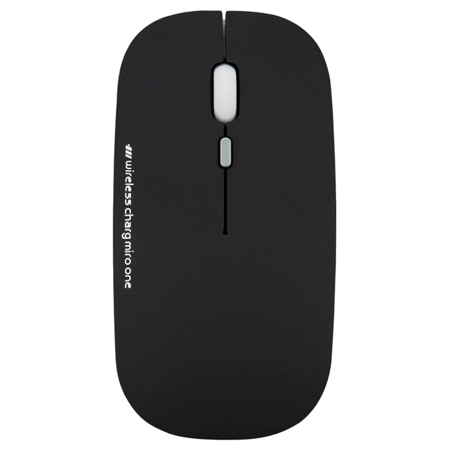 2.4G 2400DPI 3 Buttons Ultra-Thin Silence Rechargeable Wireless Optical Mouse for MacBook Notebook