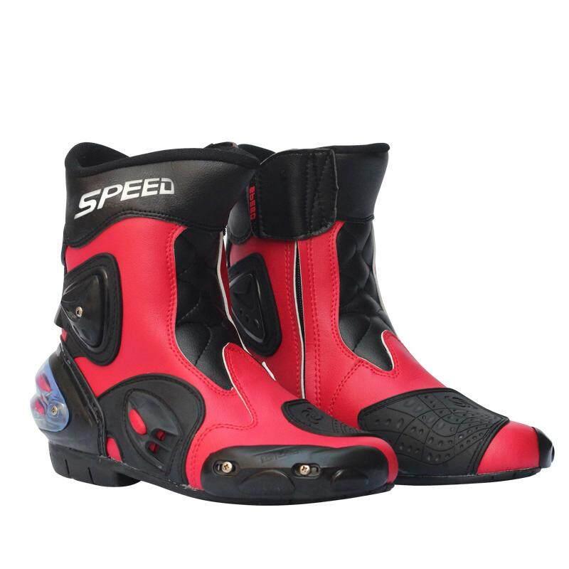 Sai Deng Pria Sepatu Balap Motor Kulit Boot Sepeda Motor Mengendarai Sepeda  Motor Motocross Off- cc65e1a4ef