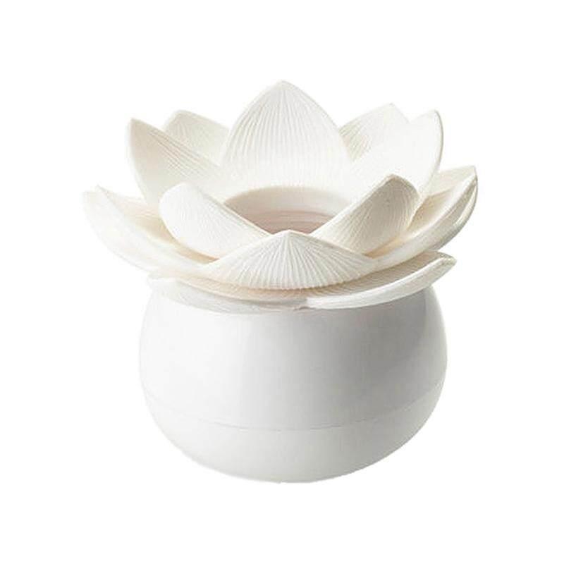 1 x Lotus Cotton Bud Stick Swab Makeup Storage Box Holder Cosmetic Bath Decor Gift, S White - intl
