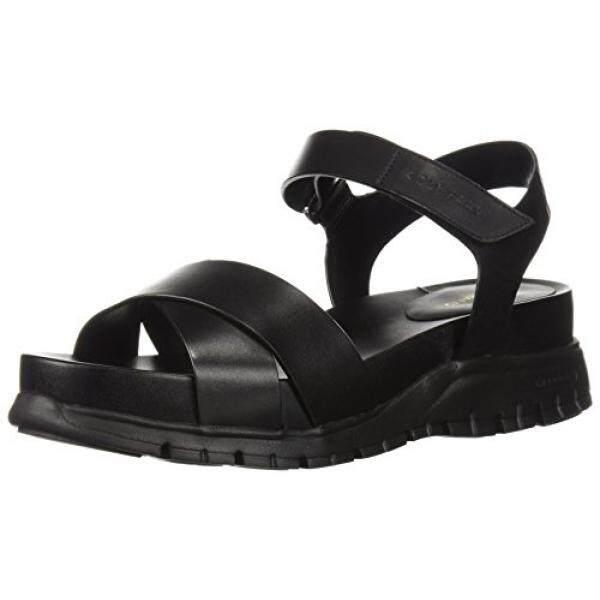 Cole Haan Womens Zerogrand II Flat Sandal, Black Leather, 10.5 B US - intl
