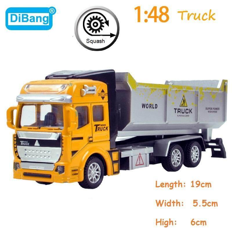 1:48 Model Miniatur Truk Mainan Paduan Kendaraan Teknik Tanker Dump Truck Mobil Sampah Excavator ...