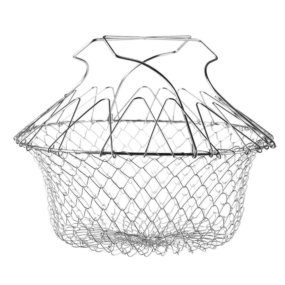 Stainless Steel Folding Expandable Fry Chef Basket Strainer Net Kitchen Colander Magic Mesh Cooking Steam Rinse Filter Sieve By Trustinyou.