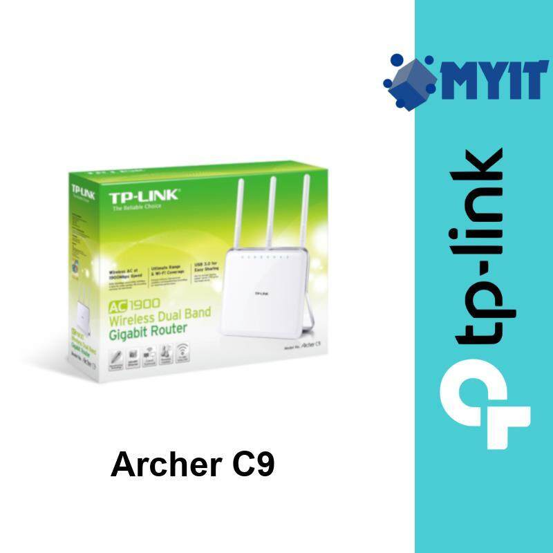 TP-Link Archer C9 AC1900 1900Mbps Dual Band Vertical Stand WiFi Router IPv6 Ready for Unifi Maxis TIME (4 LAN 2 USB, Cloud Support)