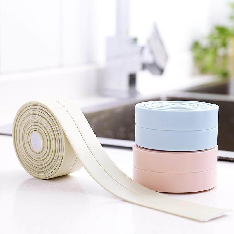 Hình ảnh 2pcs Gap mold proof bathroom waterproof stickers bathroom kitchen corner line tape beauty stitching-Blue