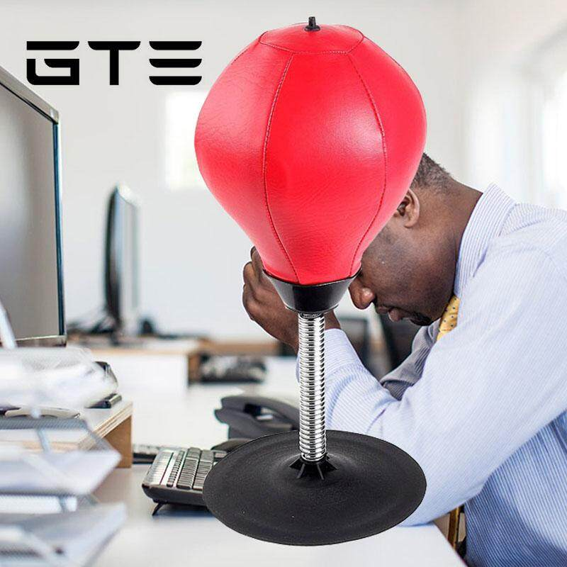 GTE Stress Relief Desktop Punching Ball With Strong Suction Cup Stress  Buster Speed Bag Withstanding Crosses