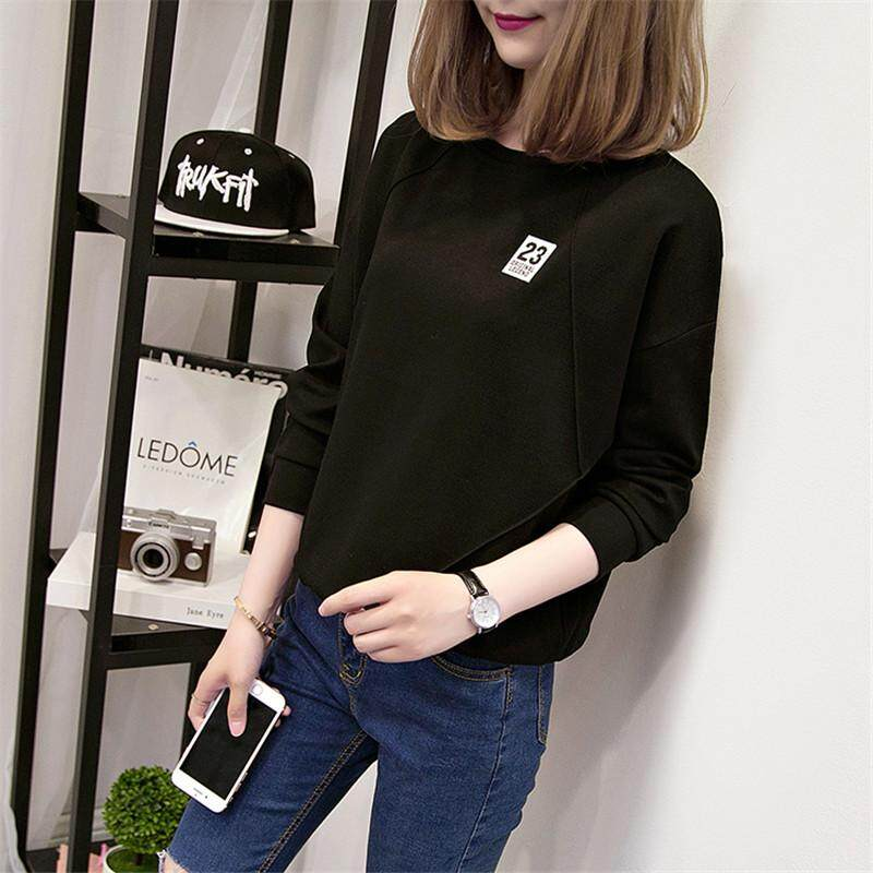 05d0ff2b5 T-shirt Female Long Sleeve 2019 New Style Spring Clothing Korean Style  Versatile Students Loose