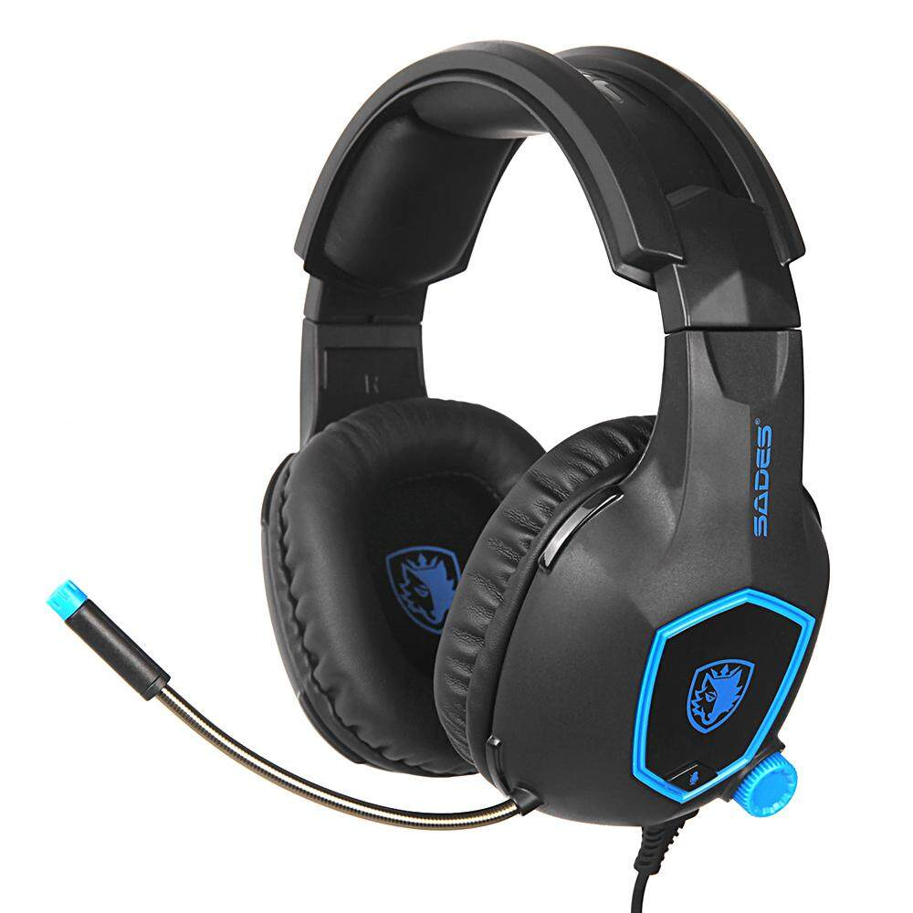 14e57fb6c89 SADES SA-818 3.5 Mm Kabel Headset Gaming Headphone Atas Telinga Earphone  Peredam Suara dengan