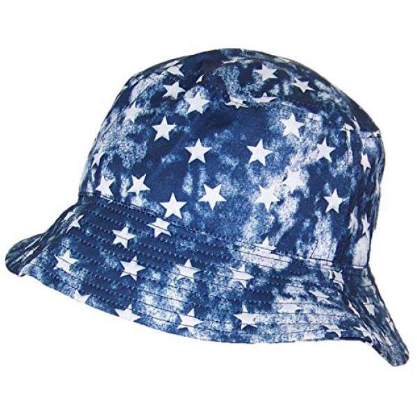 Tropic Hats Lightweight Celestial/Stars/Galaxy Designed Floppy Bucket Hat (One Size) - Blue/White - intl