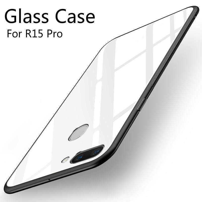 For OPPO R15 Pro glass Case Full Protection new fashion Tempered Glass back cover casing for