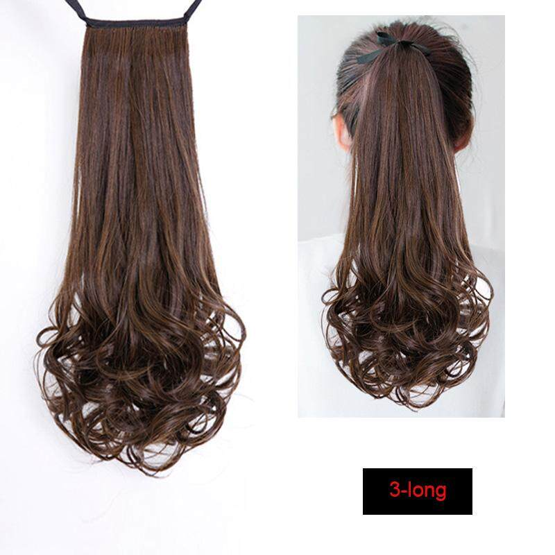 Drawstring Curly Wig Ponytail Heat Resistant Hairpieces Natural Clip In Hair Extensions - intl
