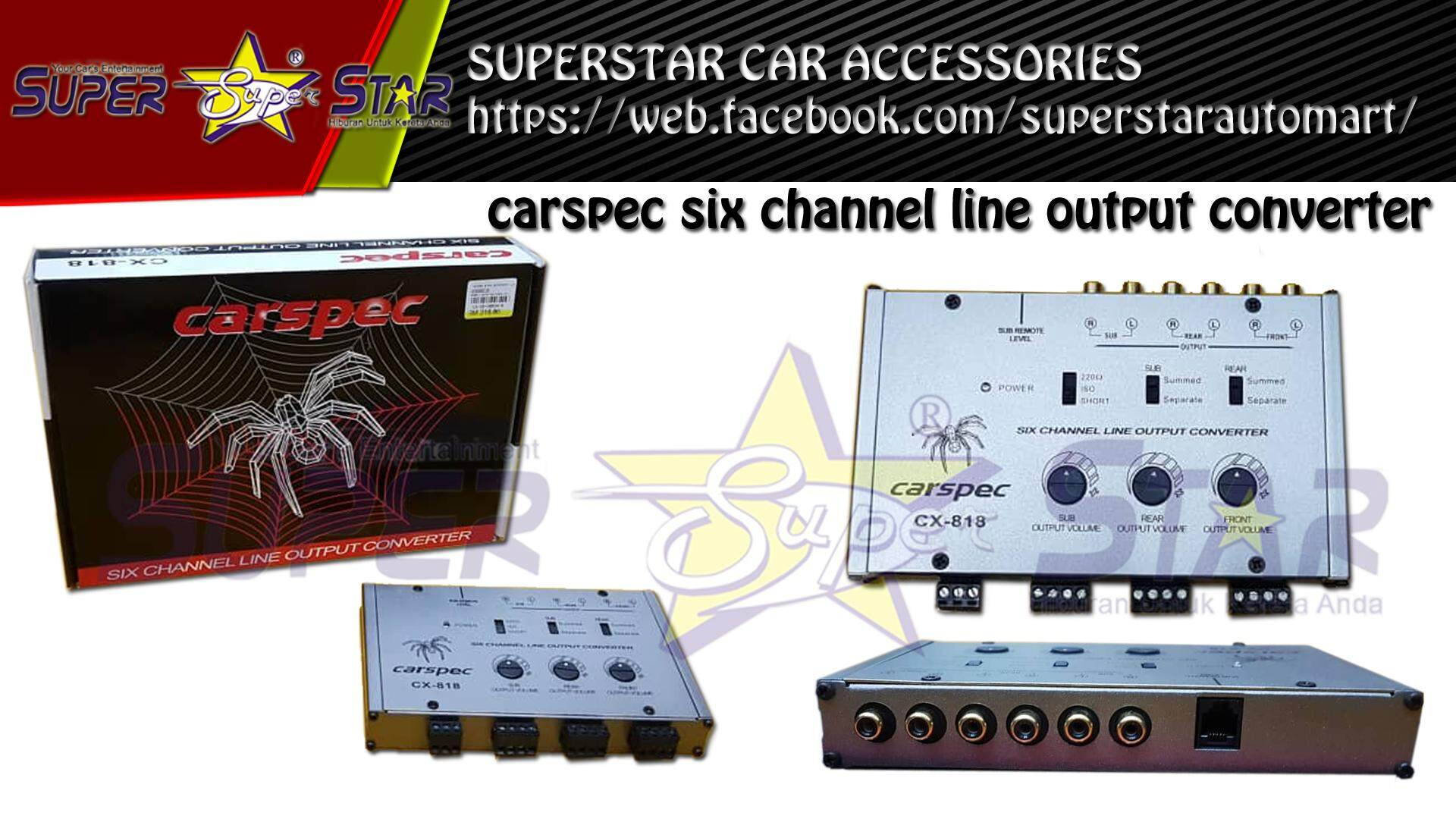 Carspec six channel line output converter